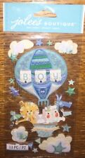 Jolees Baby Boy Special Delivery Hot Air Balloon Scrapbook Stickers Lion Clouds