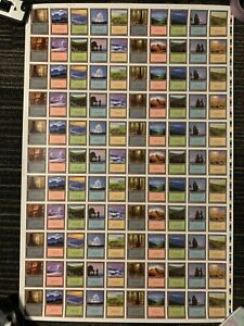 Magic: The Gathering Uncut Sheet – Fifth Edition: Lands - German