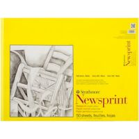 """Strathmore Smooth Newsprint Paper Pad 18""""x24""""-50 Sheets"""