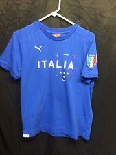 Italia Puma Blue Shirt T-Shirt Football World Cup Size S Italy