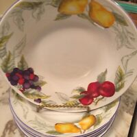 Totally Today Fruits Dinnerware Soup Cereal Bowls Set Of Six