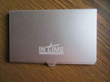 1 Visitenkartenetui Visitenkartenhalter Visitenkart Card Box Edelstahl 9.3cmx6cm