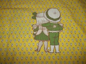 Vintage JOAN WALSH ANGLUND Yellow Floral boy girl Pillow Case (Fabric)