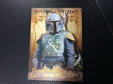 2015 Topps Star Wars Masterwork Boba Fett Scum And Villainy Canvas 72/99