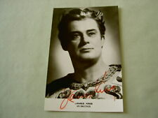 Signed Postcard: JAMES KING, tenor, as Bacchus in Ariadne auf Naxos by R Strauss