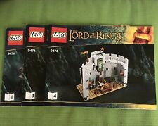 Lego Lord Of The Rings LOTR 9474 Instruction Manuals 1 And 3 And 4 Only