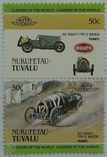 1921 BUGATTI TYPE 13 BRESCIA Car Stamps (Leaders of the World / Auto 100)