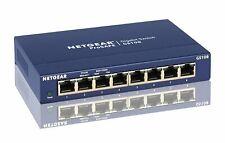 NETGEAR GS108 8-Port Gigabit Ethernet Unmanaged Switch - Desktop and ProSAFE