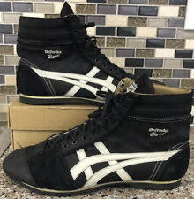 VTG RARE Asics Onitsuka Tiger Wrestling Shoes Black White High Top Size 10