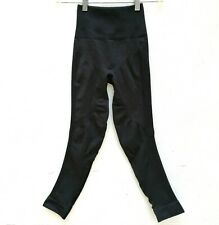 """LULULEMON Womens ZONE IN CROPS 21"""" COMPRESSION TIGHTS Blackish-Gray Leggings 2"""