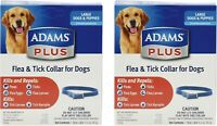 Adams Plus Flea & Tick Collar for Large Dogs, 7 month Protection - (2 PACK)