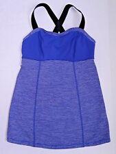 LULULEMON Run Catch Me Tank Pigment Blue Tonka Stripe yoga top size 4
