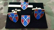 BAOR Crossed Swords Cufflink tie slide + lapelpin set, British Army on the Rhine