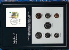 Coin Sets of All Nations Great Britain 1988-1989 UNC 1£, 1,2, 20, 50 pence 1989