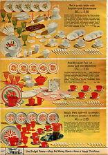 1969 ADVERTISEMENT Toy Dinnerware Tea Red Bouquet Magic Perc Mirro Plastic