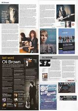 OLI BROWN : CUTTINGS COLLECTION -interviews adverts-