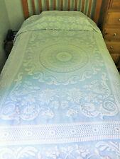 Twin Sz Queen Victoria*Wedgewood Blue*Made In Maine*Bates*Bedspread*Beautiful!