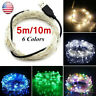 USB Connector LED String Fairy Lights 5/10M 100 LEDs Copper Wire Party Decor j6