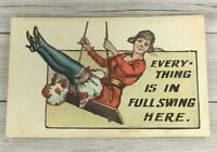 VINTAGE EVERYTHING IS IN FULL SWING HERE POST CARD POSTCARD