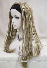 Light Brown & Pale Blonde Mixed unique braids 3/4 half wig headband FYTLG023
