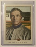 2010 Topps 206 Christy Mathewson New York Giants Pitcher #99 Baseball Card