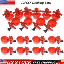 10x Poultry Chicken Automatic Water Drinking Cup Hen Quail Plastic Farm Drinker