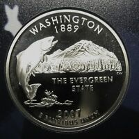 2007-S Washington Gem DCAM Clad Proof State Quarter Stunning Coin  DUTCH AUCTION