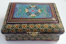 Persian Handcrafted Wooden Inlaid Khatam Marquetry Box