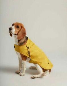 Joules Mustard Water Resistant Dog Coat Raincoat Jacket Small Medium Large