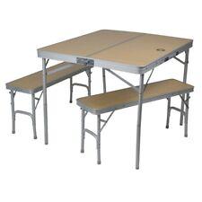 10T Portable Bench Campingtisch Picknick Sitzgruppe Tisch-Bank-Set 4 Personen