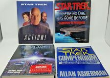4 Book Lot: Star Trek Reference Books Stng Science Fiction SciFi Sf Sci Fi