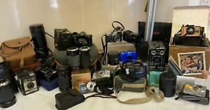 Job Lot Of Vintage & Modern Cameras- Untested **Spares & Repairs** (D2)