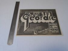 GEORDIE - HOPE YOU LIKE IT - CUTTING ADVERT CLIPPING - 1973 (1)