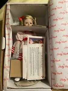 Vintage 1986 Danbury Mint Shirley Temple Stand Up And Cheer Doll Porcelain NIB