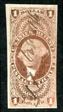 U.S. R74a used, $1 Passage Ticket, imperf, F-VF