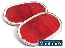 Classic VW Split Screen Bay Window Camper Rear Light Lens Chrome Red Bus 1962-71