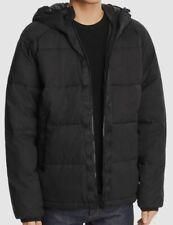$298 Wesc Men Black Full-Zip Hooded Puffer Quilted Padded Winter Coat Jacket 5/L