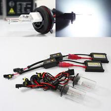 H13-2/9008 6000K White Single Xenon AC Slim Ballast HID Dual Beam Headlights Kit