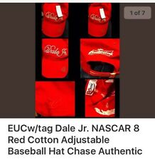 #8 Dale Earnhardt Jr NASCAR One Size Fits Most Ladies Red Bling Baseball Cap Hat