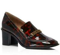 Tory Burch Gemini Link 65MM Loafer Tortoise Shell Printed Patent Calf Leather