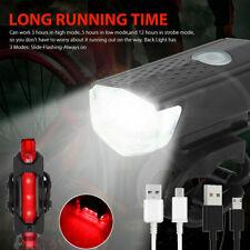 LED Fahrradlicht Fahrradbeleuchtung USB Fahrad Scheinwerfer Rücklicht Lampe