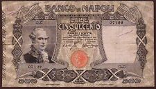 ITALY  Banco di Napoli  500 Lire  13.12.1914