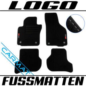 Fussmatten für Seat Leon 2 II 1P Bj. 2005-2012 Fußmatten Autoteppiche LOGO
