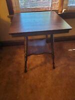 Vintage oak side table