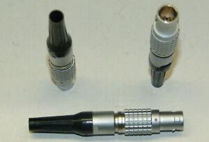 LEMO Größe 1B 1-Codierter Stecker 7 Pole FGG.1B.307 mit Knickschutz schwarz
