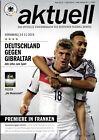 """Länderspiel 14.11.2014 Deutschland - Gibraltar, Poster """"Die Mannschaft"""" WM 2014"""