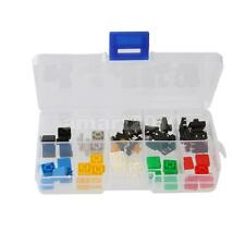 50x Momentary Push Button Switch Miniature Micro PCB Mounted+ Square Caps Keycap