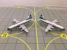 Aeroclassics 1:400 Cathay Pacific L-188 Electra Stripe VR-HFO & Oval VR-HFN