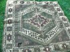 Antique Tribal Middle Eastern Flat Woven/ Loomed Tablecloth - AS IS