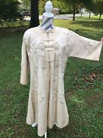 OUTSTANDING Antique Imperial Chinese Silk Embroidered Robe Coat WORK OF ART!